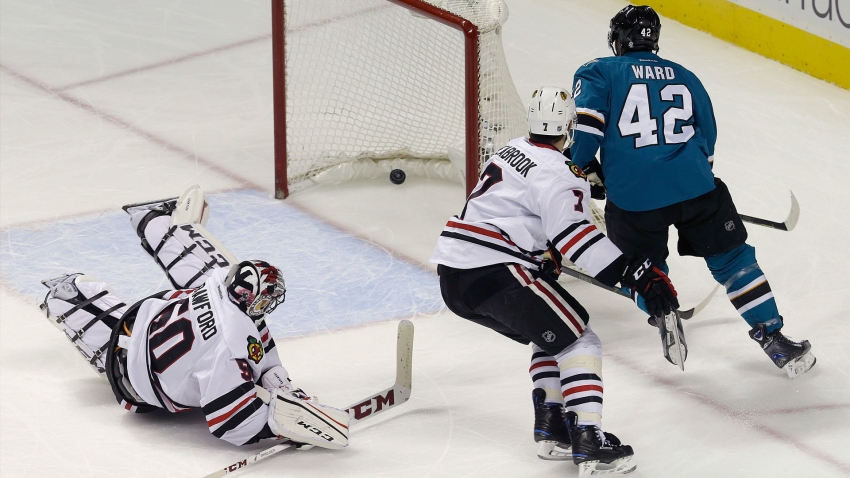 [CSNBY] Sharks score early, hold off West-best Hawks