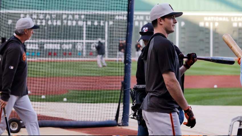 [CSNBY] Giants' Mike Yastrzemski soaks in first Fenway Park trip as MLB player