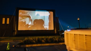 E.T. at Coppell Arts Center's drive-in movie theater