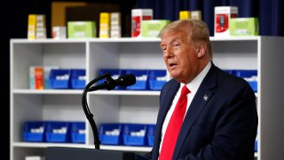 President Donald Trump speaks during an event to sign executive orders on lowering drug prices, in the South Court Auditorium in the White House complex, Friday, July 24, 2020, in Washington.