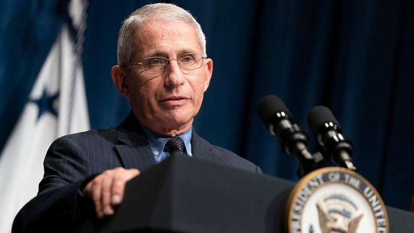 Director of the National Institute of Allergy and Infectious Diseases Dr. Anthony Fauci speaks after a White House Coronavirus Task Force briefing at the Department of Health and Human Services, June 26, 2020, in Washington, D.C.