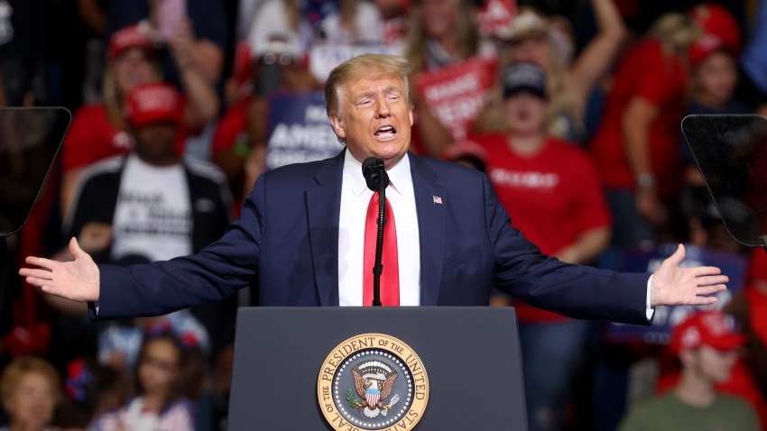 TULSA, OKLAHOMA - JUNE 20: U.S. President Donald Trump arrives at a campaign rally at the BOK Center, June 20, 2020 in Tulsa, Oklahoma. Trump is holding his first political rally since the start of the coronavirus pandemic at the BOK Center today while infection rates in the state of Oklahoma continue to rise.