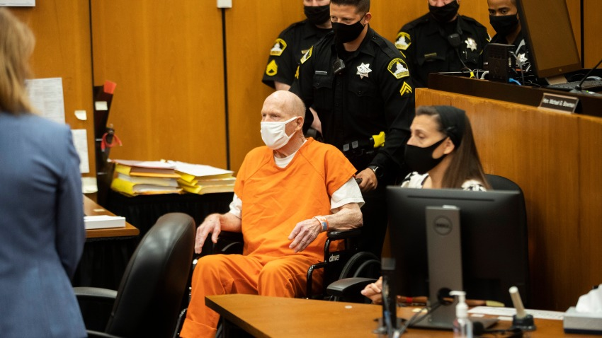 Joseph James DeAngelo is brought to the court room for the first day of victim impact statements at the Gordon D. Schaber Sacramento County Courthouse on Tuesday, Aug. 18, 2020, in Sacramento, Calif.
