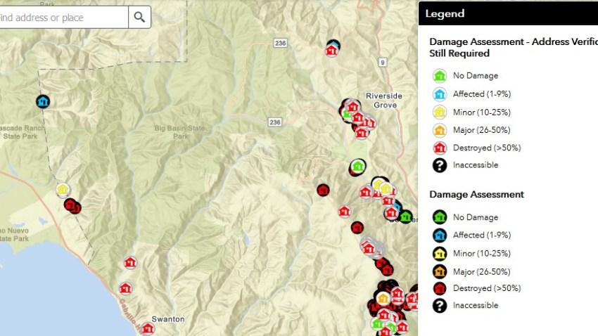 Czu Complex Map And Fire Damage Information In Santa Cruz County Nbc Bay Area Sf state downtown campus 835 market. czu complex map and fire damage