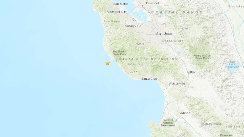 A map shows the epicenter of a 3.2 magnitude earthquake.