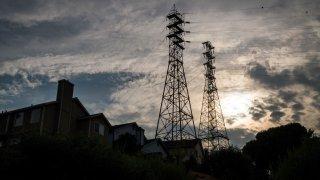 Power lines stand in Crockett