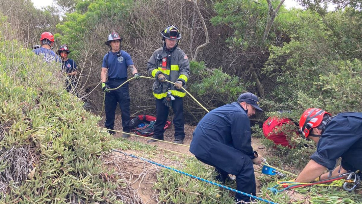 Father, Son Rescued From Cliff at Fort Funston