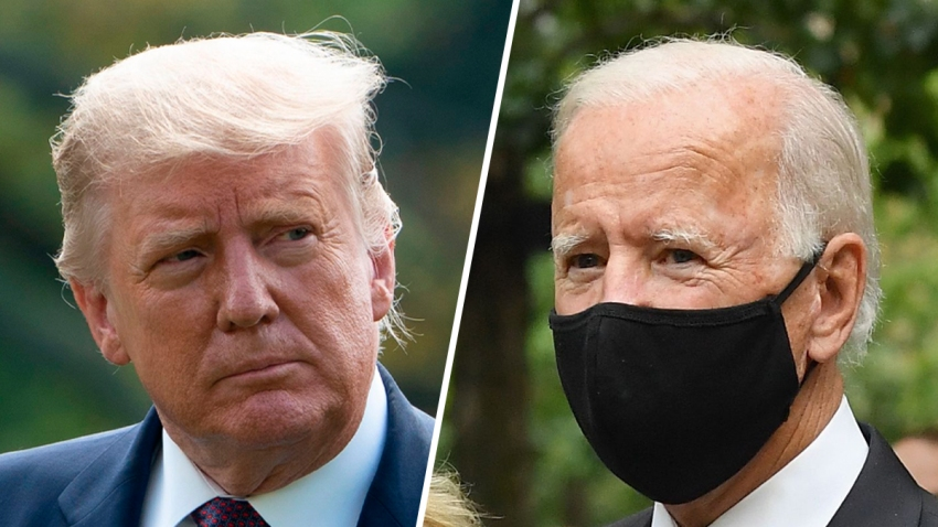US President Donald Trump (left) and Democratic Presidential Candidate Joe Biden (right).