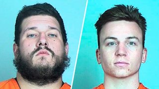 Michael Robert Solomon (left) and Benjamin Ryan Teeter (right). Solomon and Benjamin Ryan Teeter, who prosecutors say are members of an anti-government extremist group, toted guns on Minneapolis streets during unrest following the death of George Floyd and spoke about shooting police, blowing up a courthouse and killing politicians, have been charged with federal terrorism counts.