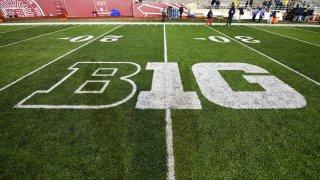 The Big Ten Conference logo at Memorial Stadium