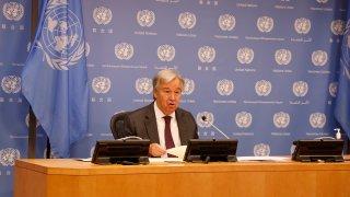United Nations Secretary-General Antonio Guterres speaks