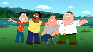"""Joe, Peter, Quagmire, and Cleveland from """"Family Guy"""""""