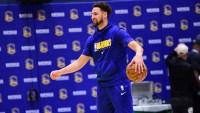 Warriors' Klay Thompson Clears Quarantine, Participates in Team Practice