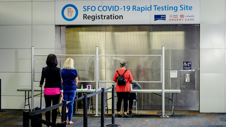 United Launches COVID-19 Testing for Passengers Out of SFO ...