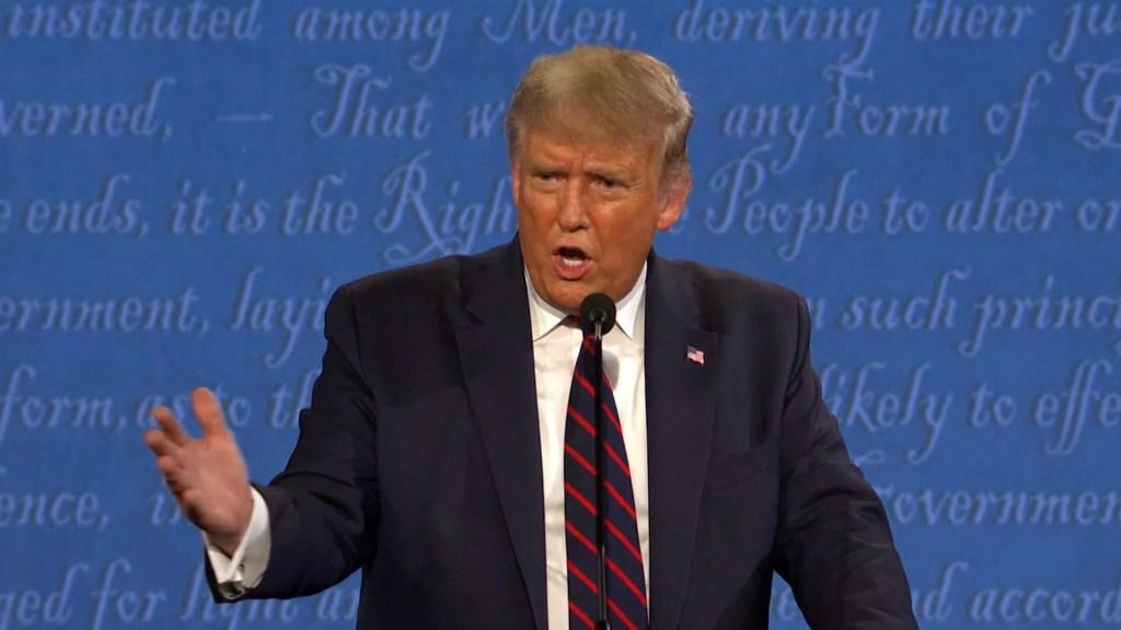 Donald Trump on debate stage