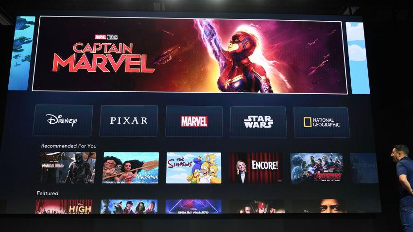 Disney+ interface displaying viewing options