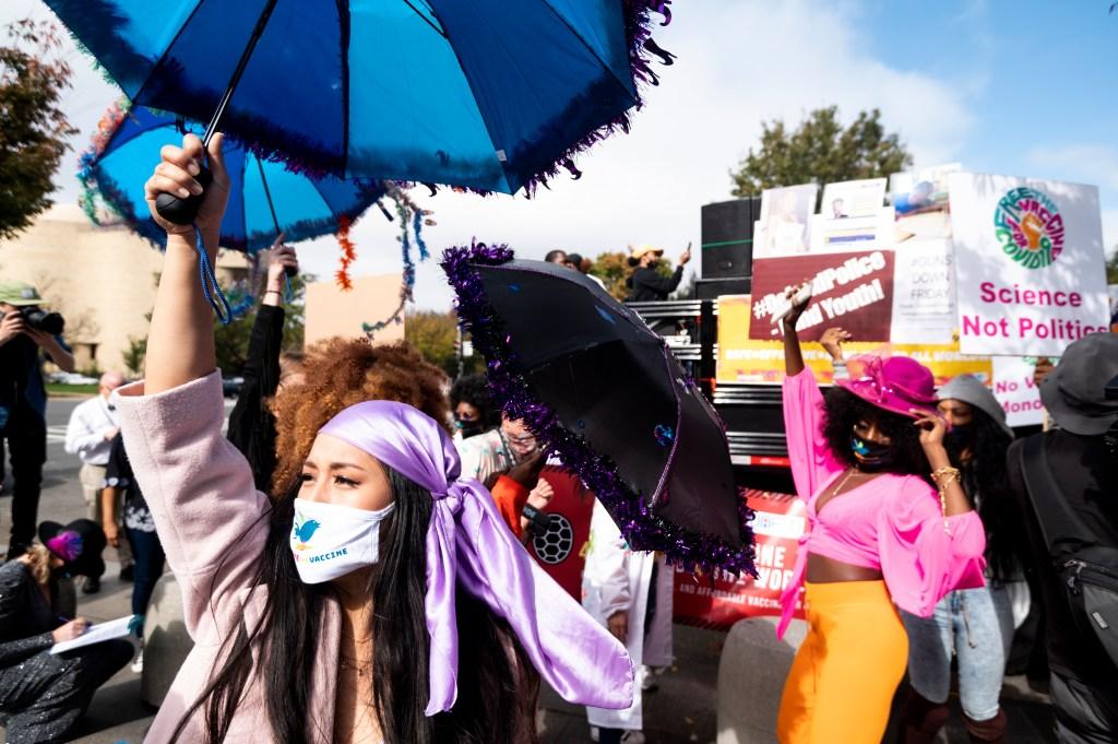 Covid-19 Vaccine Protest DC