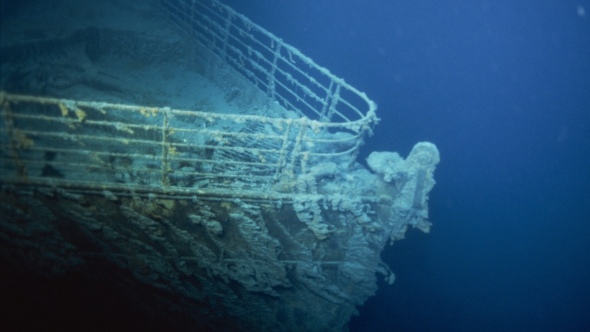 The bow of the Titanic ship.