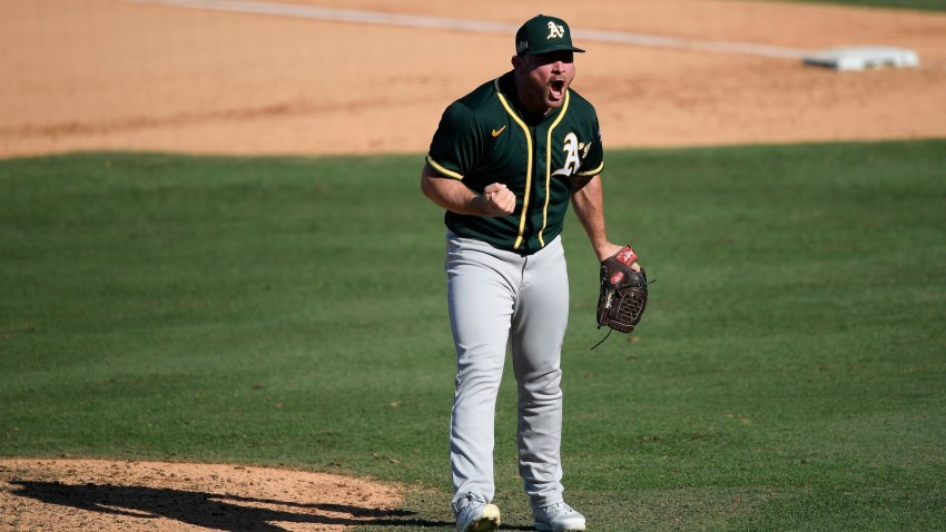 Liam Hendriks of the Oakland Athletics.