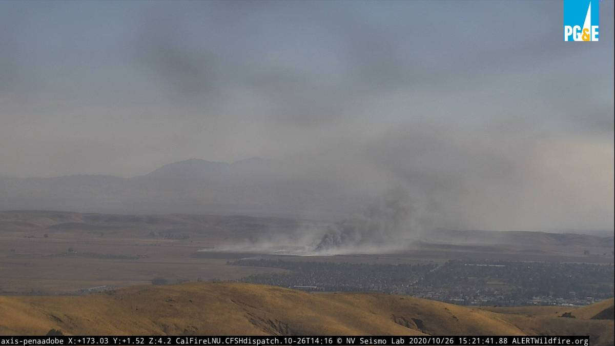 Petersen Fire Burning in Solano County