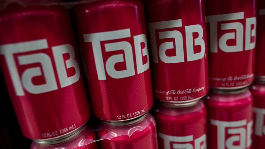 Cans of Tab diet cola produced by the Coca-Cola Company at a supermarket in the Brooklyn borough of New York, July 26, 2011.