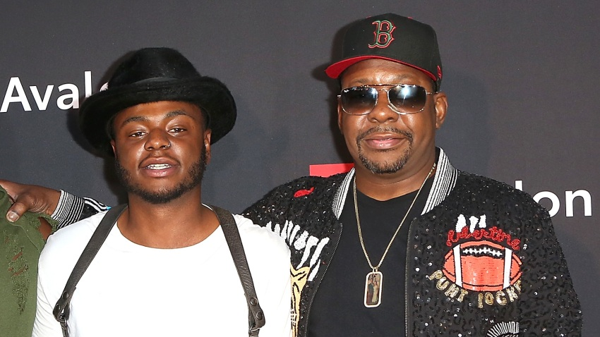 "Landon Brown, Bobby Brown Jr., and Bobby Brown arrive at the premiere screening of ""The Bobby Brown Story"""