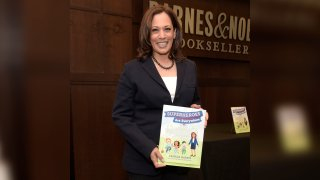 """Vice President-elect Kamala Harris attends a signing event for her childrens book """"Superheros Are Everywhere"""" at Barnes & Noble at The Grove on Jan. 13, 2019, in Los Angeles, California."""