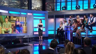 Host Julie Chen Moonves talks to the Jury of BIG BROTHER on the season finale