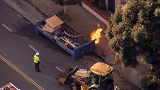 A gas leak and fire in San Francisco.