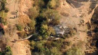 Firefighters battle a fire in San Jose.