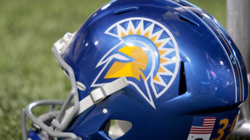 File image of a San Jose State Spartans helmet.