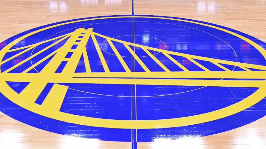 A view of the court at Chase Center in San Francisco, California.