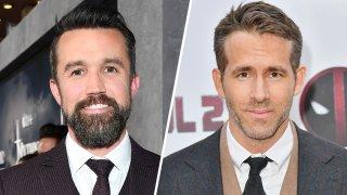 (Left) Rob McElhenney, (Right) Ryan Reynolds