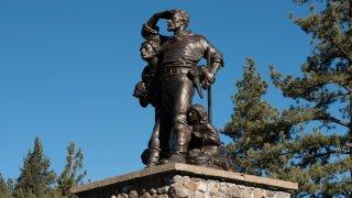Donner Pass memorial in Truckee.