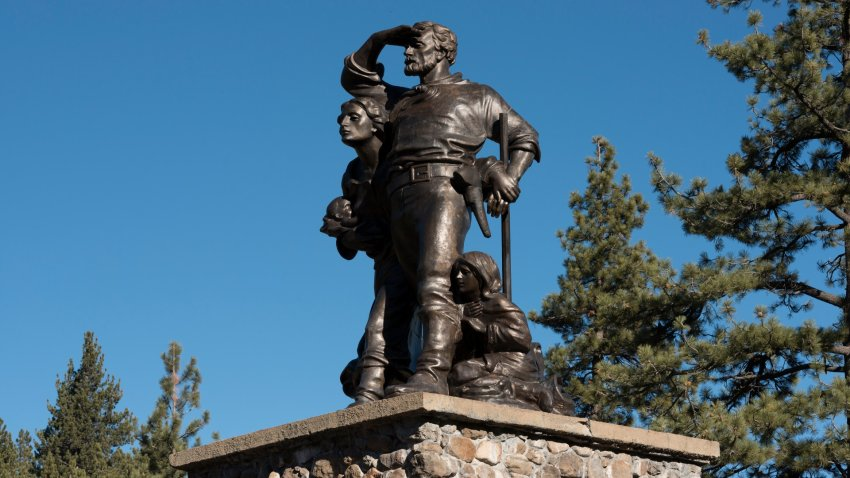 Donner Pass memorial in Truckee.