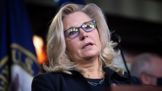 In this Nov. 17, 2020, file photo, Republican Conference Chair Liz Cheney, R-Wyo., speaks during a news conference with other House Republican leadership in Washington, D.C.