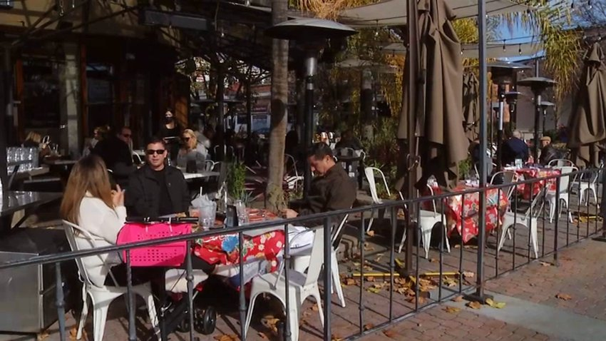 Outdoor dining in San Mateo County.