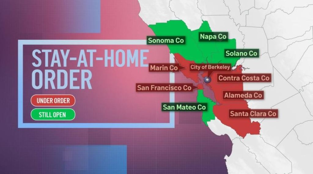Most of the Bay Area to Start New Stay-At-Home Order on Sunday – NBC Bay  Area
