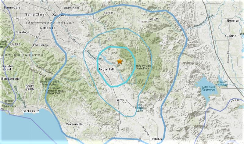 Pair Of Earthquakes Strike Near Morgan Hill Felt Across Much Of Bay Area Nbc Bay Area