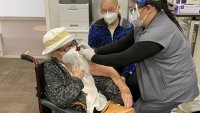 105-Year-Old, Survivor of 2 Pandemics, Gets Vaccinated