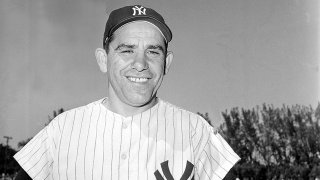 Yogi Berra, catcher for the New York Yankees, is shown during spring training in March 1960.