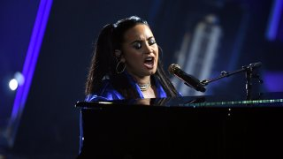 Demi Lovato performs