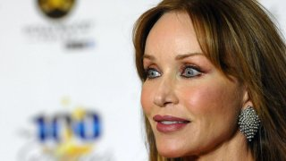 Tanya Roberts arrives for the 23rd Annual Night Of 100 Stars Black Tie Dinner Viewing Gala.