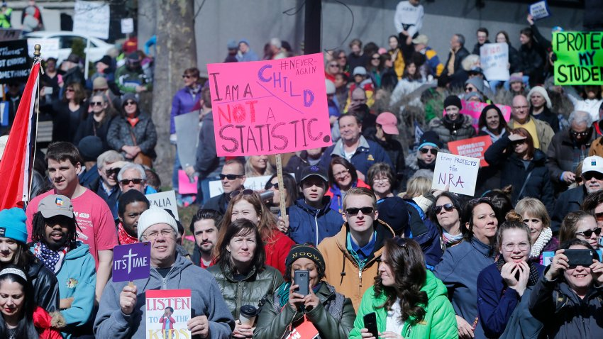 Students nationwide march to demand stricter gun laws