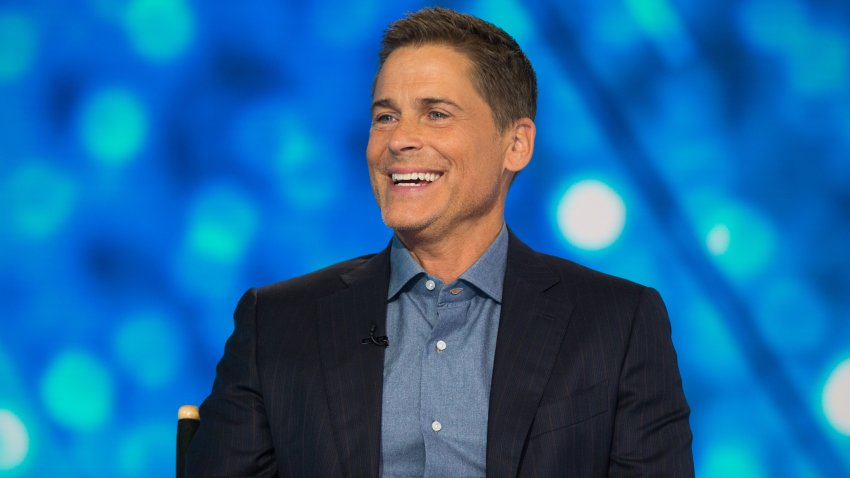"""In this Sept. 6, 2018, file photo, Rob Lowe appears on the set of """"TODAY"""" on NBC."""