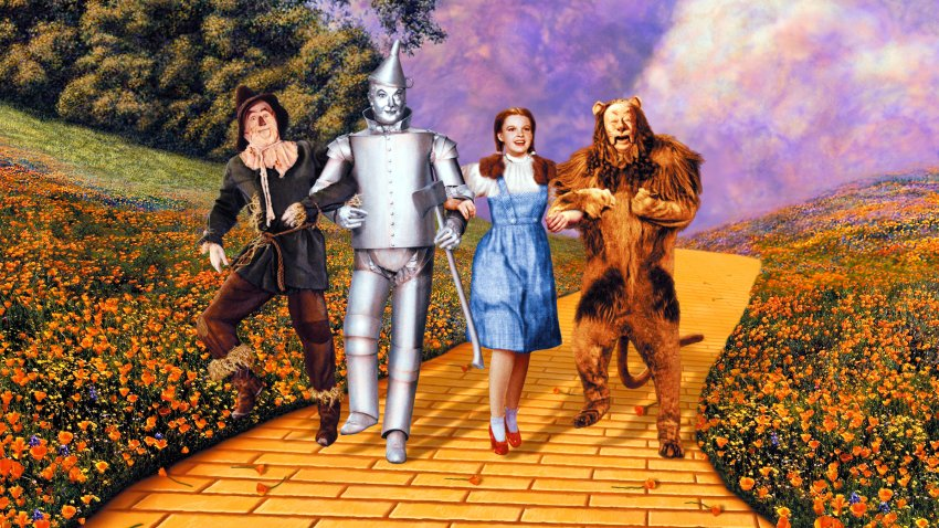 "Publicity still from the 1939 film ""The Wizard of Oz"""