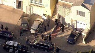 Police activity in San Francisco.