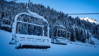 New snow at Squaw Valley Resort.
