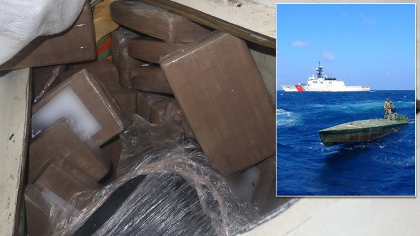 Coast Guard crews from Alameda-based cutters seized thousands of pounds of cocaine (pictured) during recent operations in the eastern Pacific Ocean.