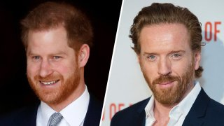 """Seeing double? Prince Harry (left) feels """"Billions"""" actor Damian Lewis (right) would be a good match for him on """"The Crown."""""""